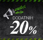 Dodatnih -20% na OUTLET