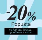 -20% na haljine, pantalone, košulje, sakoe...
