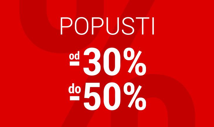 Sezonski Popusti od -30% do 50%