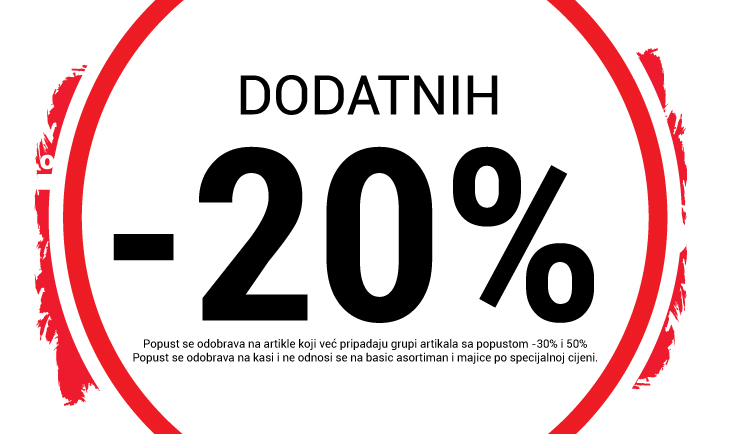-20% popusta na sav asortiman