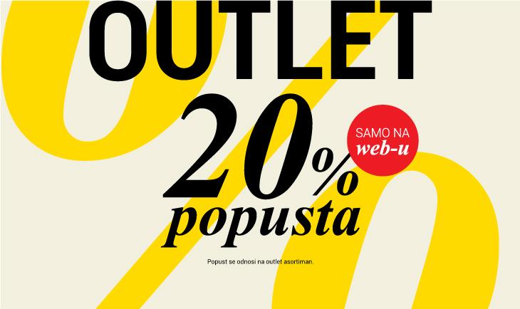 20% na outlet sekciju
