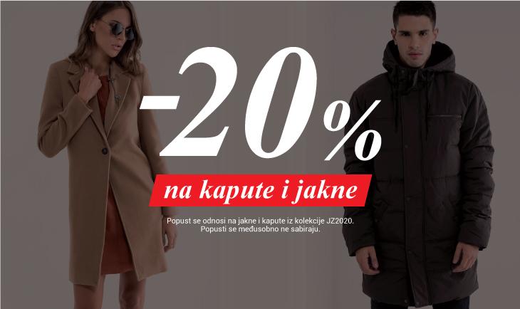 20% popusta na jakne i kapute
