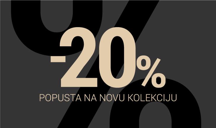 20% popusta na artikle iz nove kolekcije