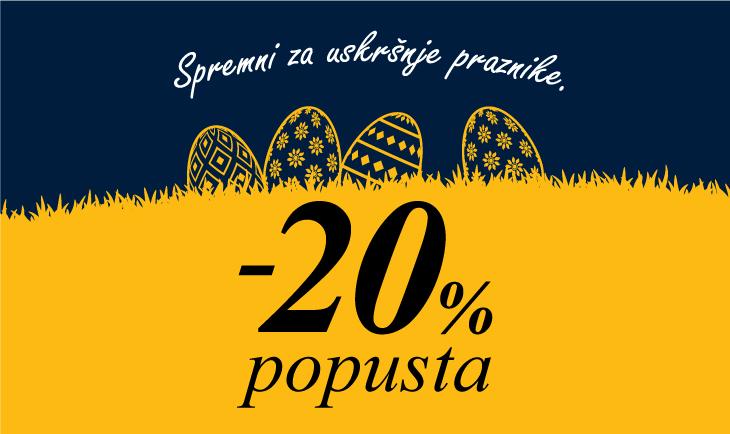Uskršnjih 20% popusta