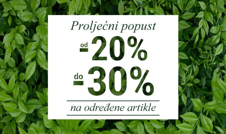 Proljećni popust od 20% do 30%