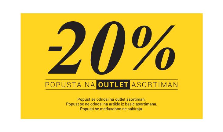 20% popusta na outlet asortiman