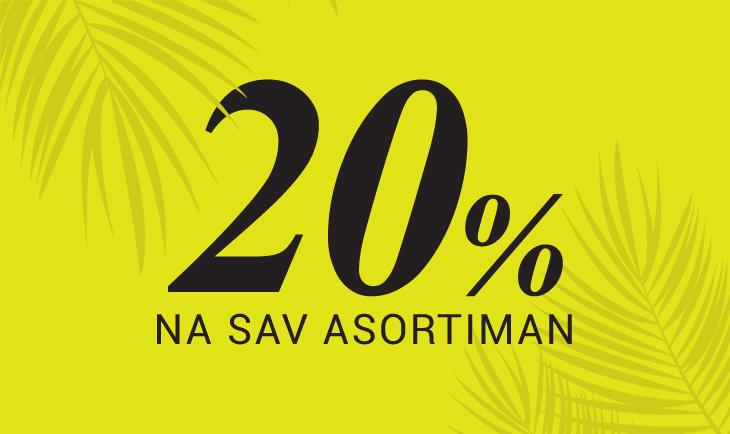 20% na sav asortiman