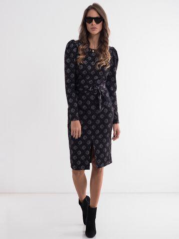 Ženska elegantna dezenirana haljina