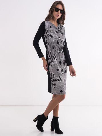 Ženska dezenirana haljina