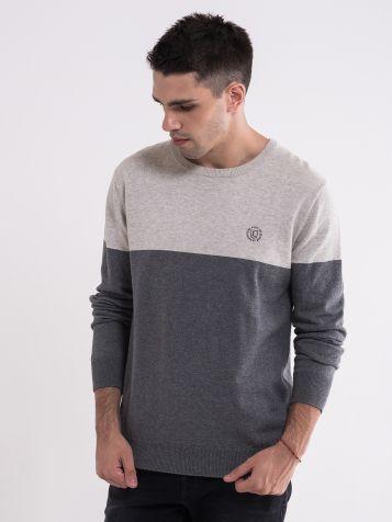 Muški džemper sa dve boje