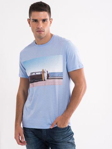 Svijetlo plava muška majica