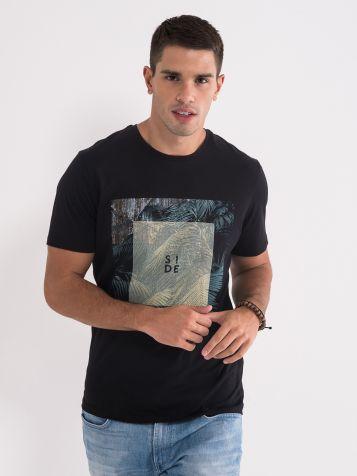Crna pamučna majica