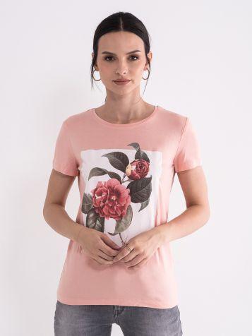 Ženska majica u boji breskve