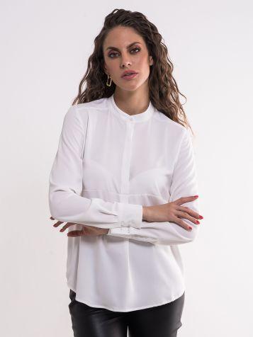 Bijela viskozna bluza