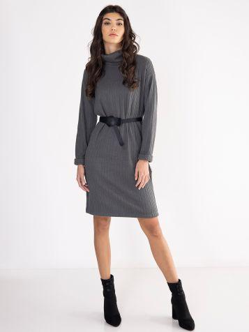 Tamno siva džemper haljina