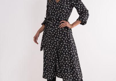 Viskozna haljina sa cvetnim uzorkom