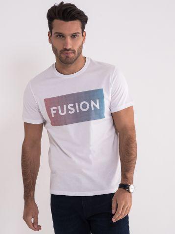 Bijela fusion majica