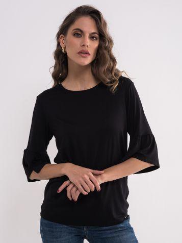 Crna bluza sa karnerom