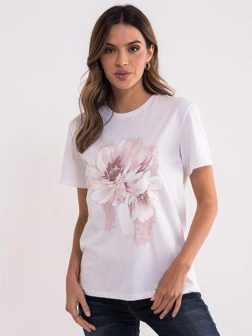 Ženska majica sa printom cveta