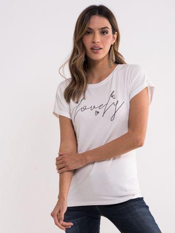 Bijela lovely majica