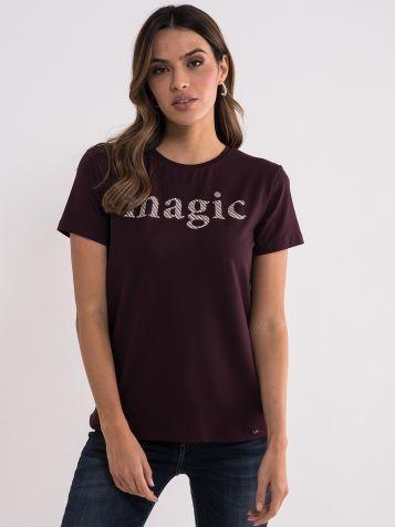 Tamno ljubičasta magic majica