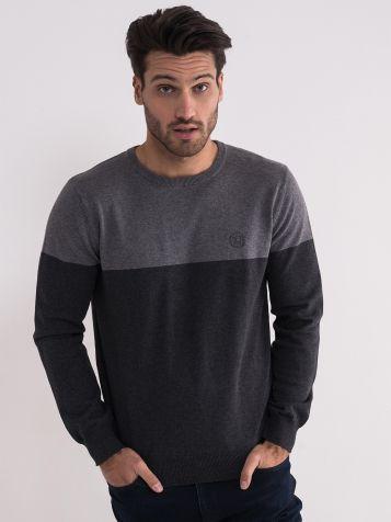Pamučni sivi džemper