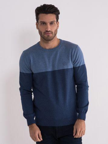 Pamučni teget džemper