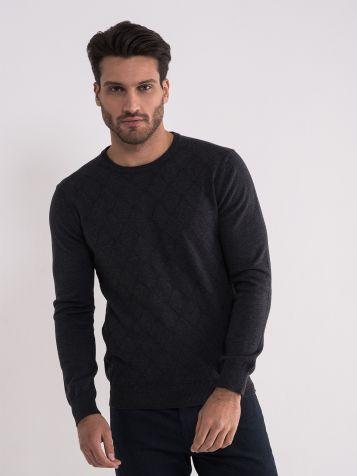 Tamno sivi džemper sa radom