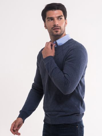 Teget džemper sa radom