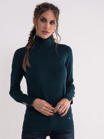 Džemper sa rolkom u tamno zelenoj boji