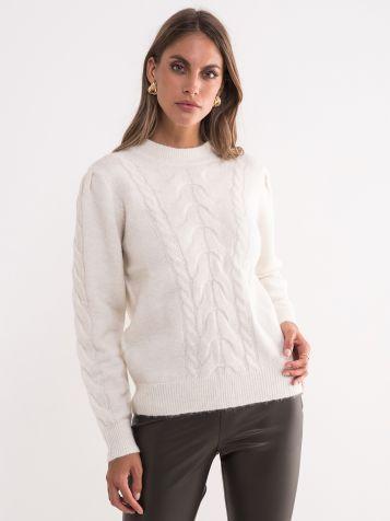 Ženski bijeli džemper