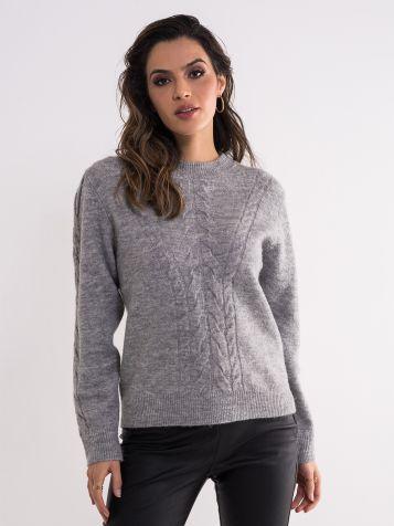 Ženski sivi džemper