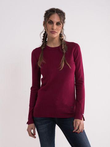Ženski tamno ciklama džemper