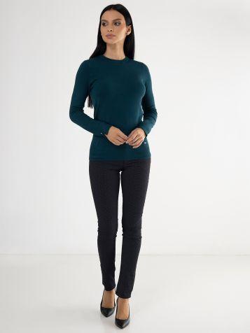Ženski tamno zeleni džemper