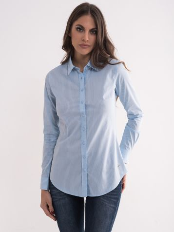 Plava prugasta košulja
