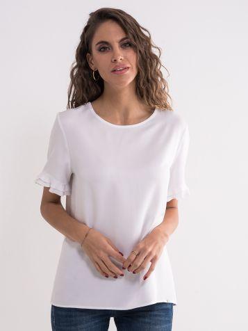 Bijela jednostavna bluza