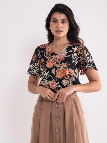 Bluza sa floralnim dezenom