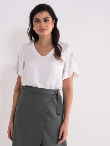 Lepršava bijela bluza