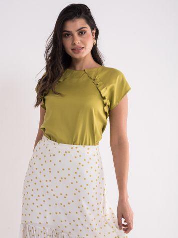 Bluza u pistaći zelenoj boji