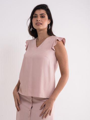 Elegantna roze bluza