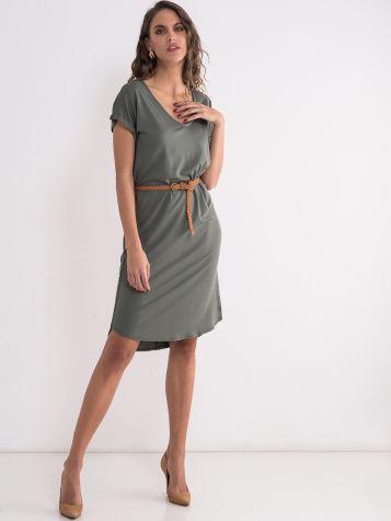 Zelena basic haljina
