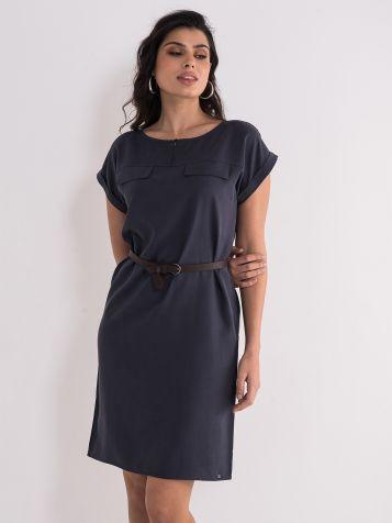 Casual drap-braon haljina
