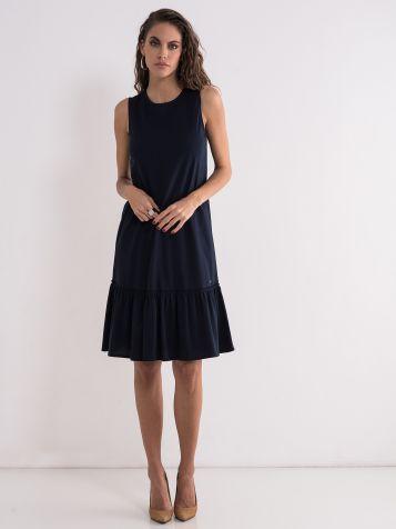 Teget  pamučna haljina