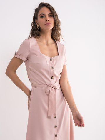 Roza viskozna haljina