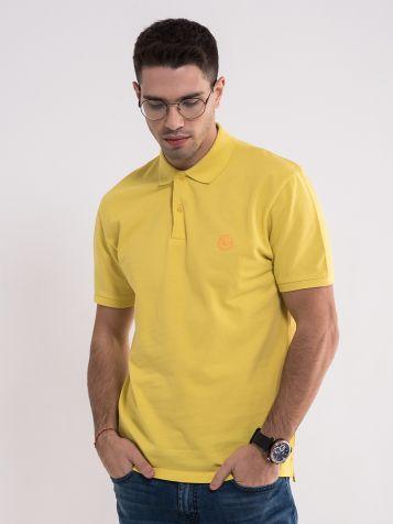 Žuta majica sa kragnom