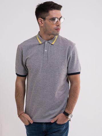 Siva majica sa kragnom