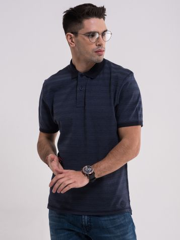 Muška prugasta majica sa kragnom