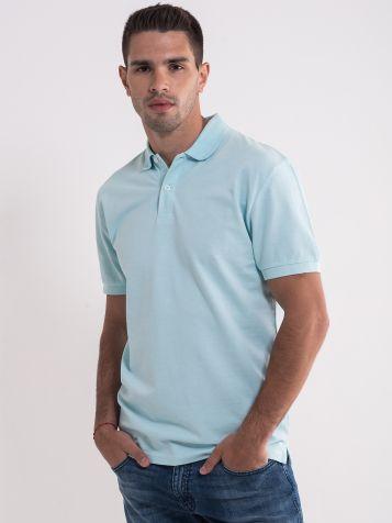 Svijetlo plava majica sa kragnom