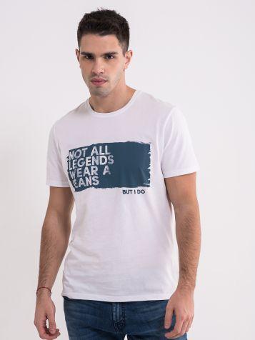 Muška bijela majica sa natpisom