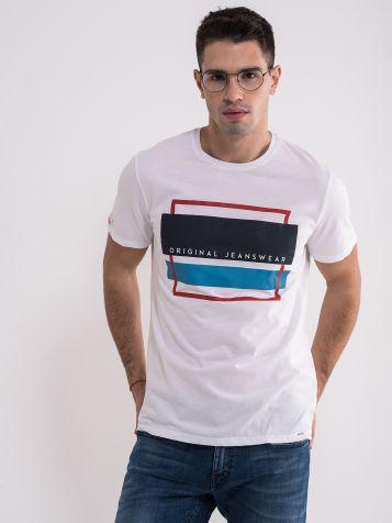 Muška casual bijela majica